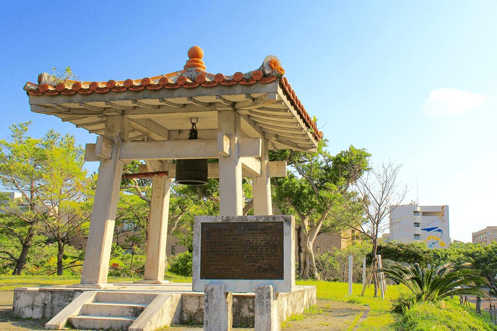 護国寺の鐘レプリカ(千原キャンパス内)
